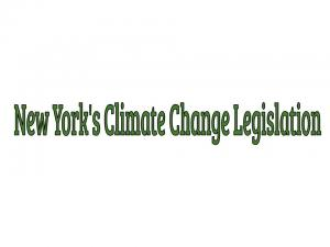 New York's Climate Change Legislation