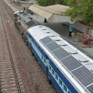 Solar Panels in Indian Train