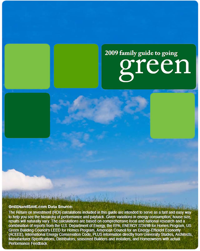 2009 Family Guide to Going Green: Data Source
