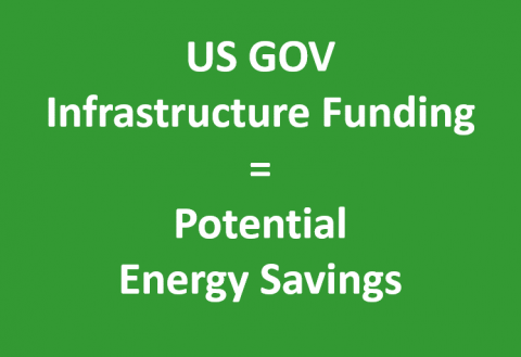 US GOV Infrastructure Funding = Potential Energy Savings